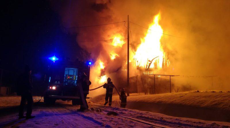 Pożar budynku gospodarczego w Haczowie